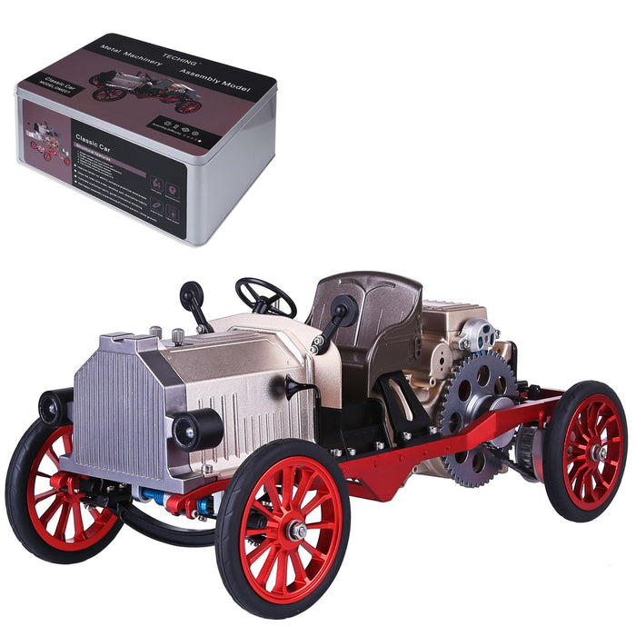 Teching Assembly Metal Mechanical Electric Vintage Classic Car Model Toy