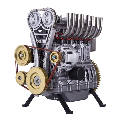 Teching DM13-L4-T Inline 4 Cylinder Car Engine L4 DIY Assembly Metal Model