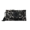 Leather Hand Etched Envelope with Xinjiang Jade Black   $295