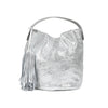 The Italian Leather Bean Bag in Taupe $225
