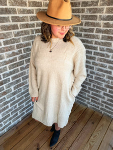 SWEATER DRESS - Oatmeal
