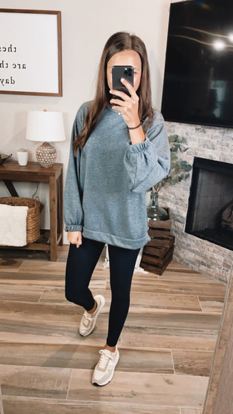 CHARCOAL CASUAL PULLOVER