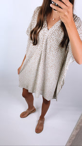 INTO THE WILD LEOPARD PRINT DRESS - Sage Base