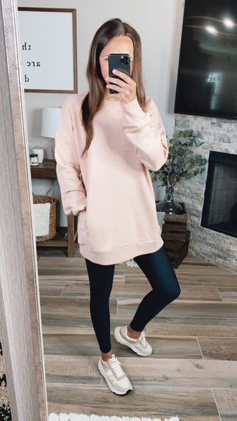 DUSTY BLUSH PULLOVER