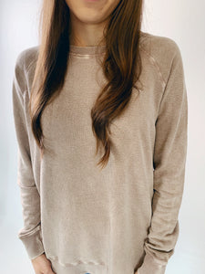 Textured spring pullover - Dusty pink