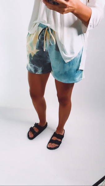 LET'S LOUNGE TIE DYE SHORTS