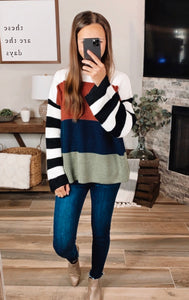 VAIL COLOR BLOCK SWEATER