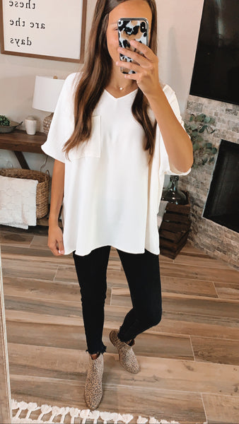 AROUND THE TOWN TOP - Ivory