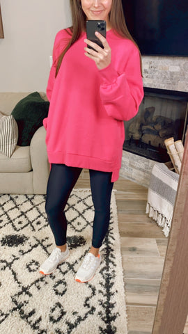 BASIC COMFY PULLOVER (S-XL) | PINK