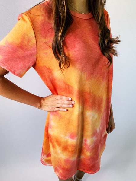 TIE DYE DRESS - Beach Sunset