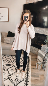 TAUPE THERMAL SWEATER