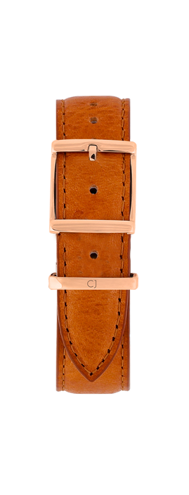 18mm Tan Leather Strap