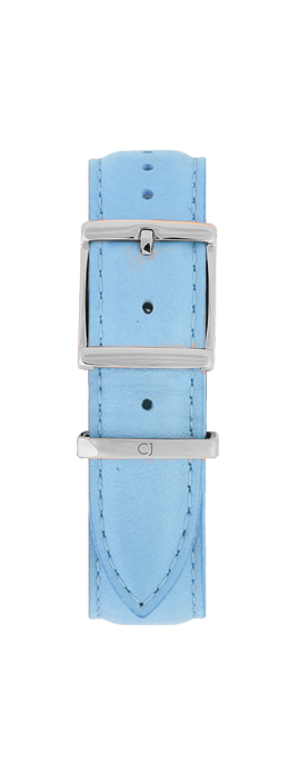 18mm Pastel Blue Leather Strap