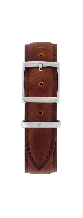 18mm Brown Leather Strap - Colton James Timepieces