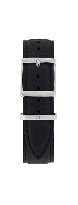 18mm Black Leather Strap - Colton James Timepieces