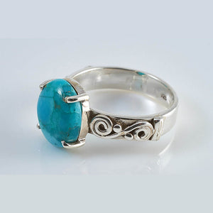 Amazy Turquoise Silver Ring