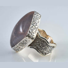 Load image into Gallery viewer, Beta2 Rose Quartz  Silver Ring