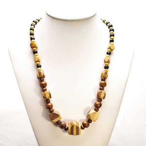 Cube2 Teak  Necklace