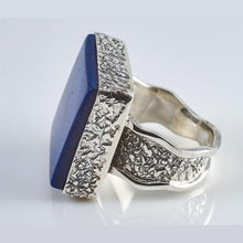 Load image into Gallery viewer, Lasi Lapis Lazuli Silver Ring