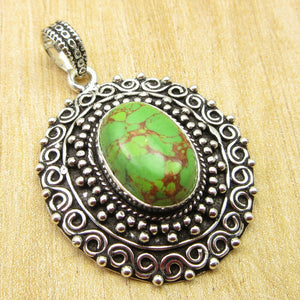 ArtisanStyled  Green Copper Turquoise Pendant