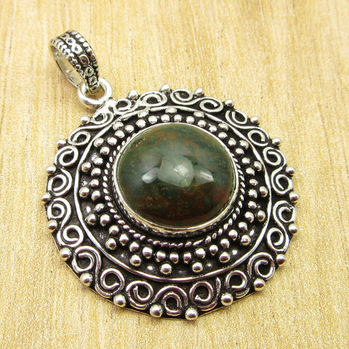 Artisan MoonStyled  Blood Stone Pendant