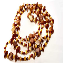 Load image into Gallery viewer, Spearcube Long Lariat Teak Necklace
