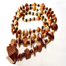 Load image into Gallery viewer, Spearcube3 Long Lariat Teak Necklace