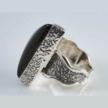 Load image into Gallery viewer, Tri Black Onyx Silver Ring