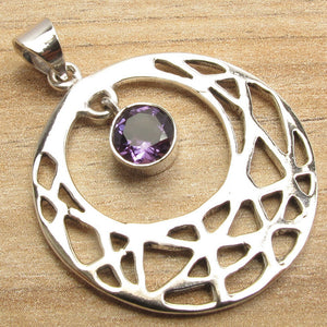 Purple Facetted Amethyst Pendant