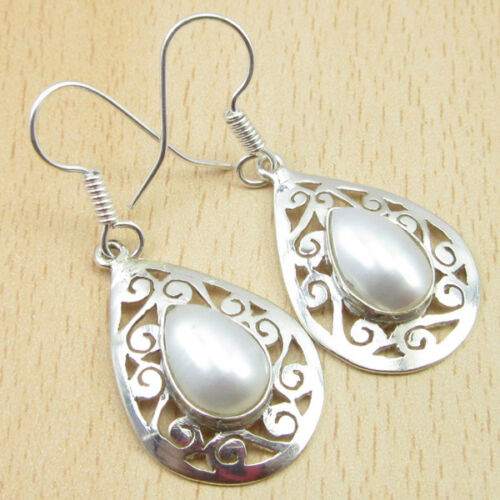 Tear Drop Pearl Dangling Earrings