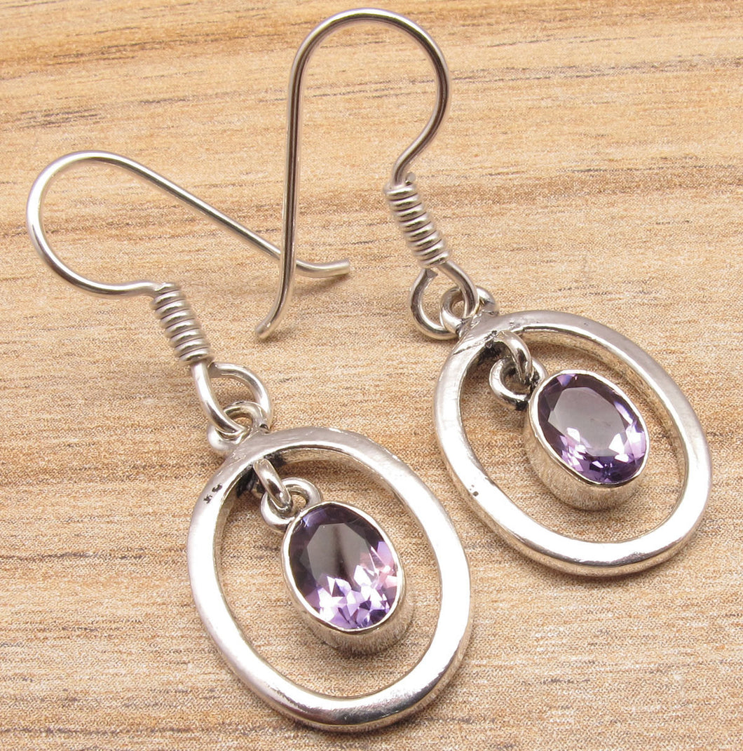 Baby Girl Amethyst AAA Dangling Earrings
