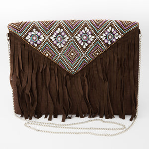 Eurono Beaded Envelope Sling Bag