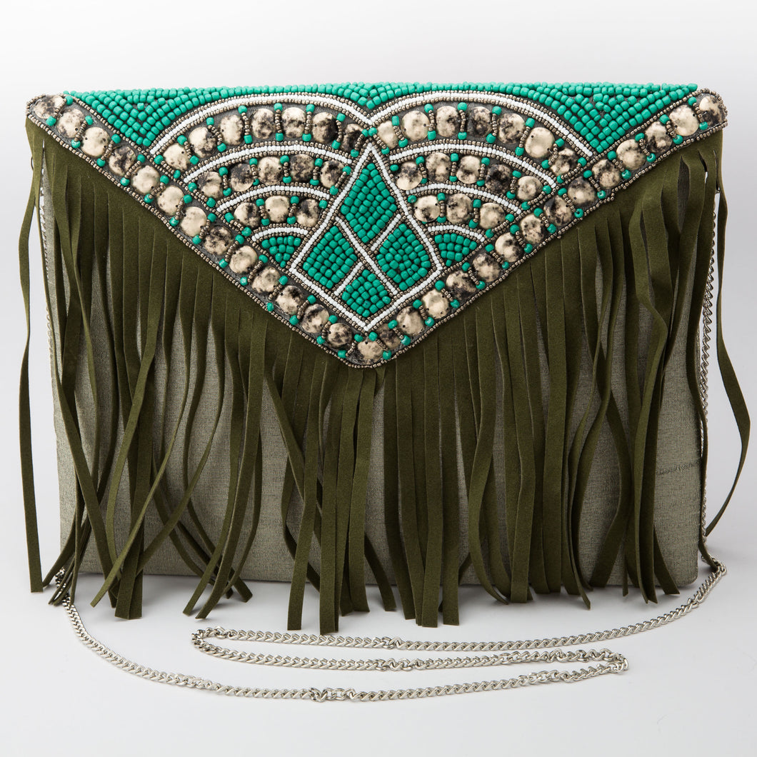 Breabe Beaded Envelope Sling Bag