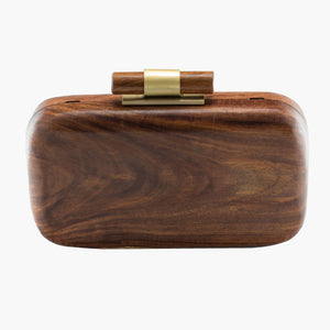 SanoTea Wood Evening Sling Clutch Bag Teak Handmade