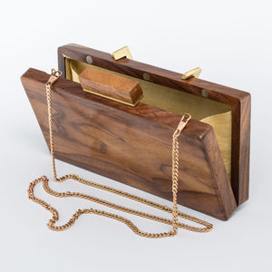 Tea Wood Evening Sling Clutch Bag Teak Handmade
