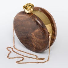 Load image into Gallery viewer, Bomehia Wood Evening Sling Clutch Bag Teak Handmade