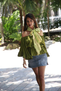 Jenna Olive Green Top