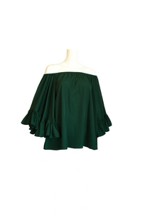Jenna II Loose Top - Pine Green