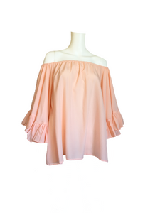 Jenna II Loose Top - Peach