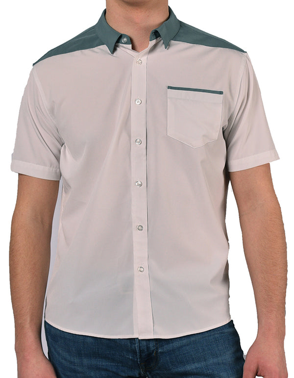 "Short Sleeve ""Point"" Button-Up"