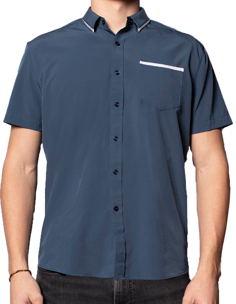 "Short Sleeve ""Edge"" Button-Up"