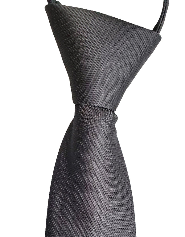 Solid Color Zipper Tie