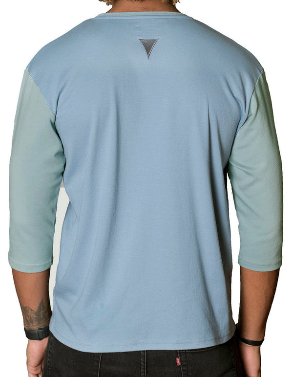 ¾ Sleeve Crew Collar
