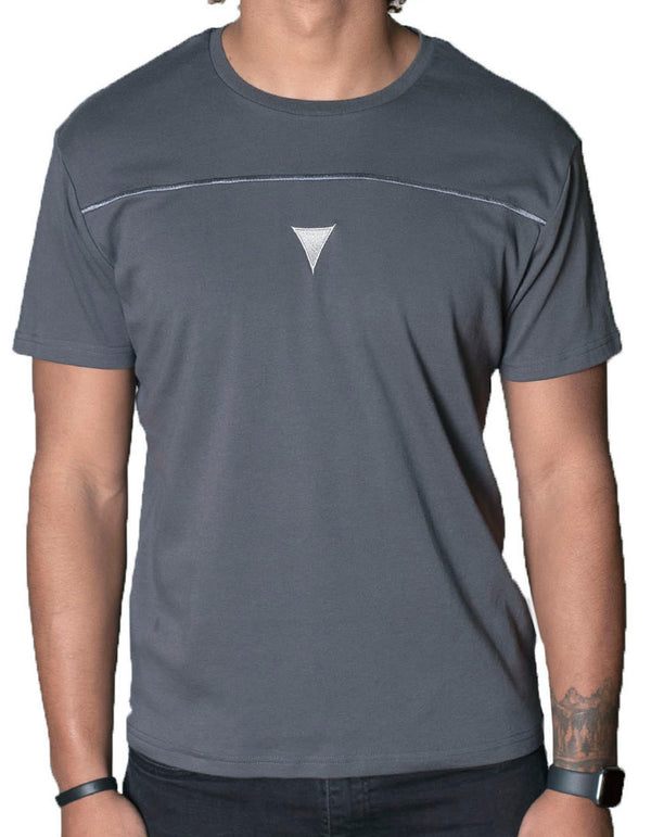 SpearPoint Apparel Men's Short Sleeve Crew Neck T Shirt - Dark Gray