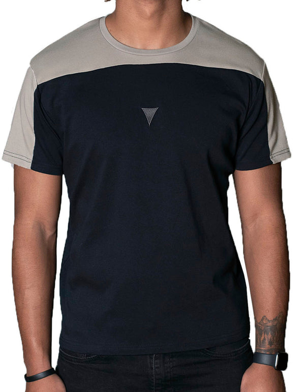 SpearPoint Apparel Men's Short Sleeve Crew Neck T Shirt - Gray & Taupe