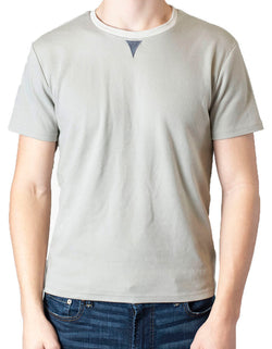 SpearPoint Apparel Men's Short Sleeve Crew Neck T Shirt - Taupe