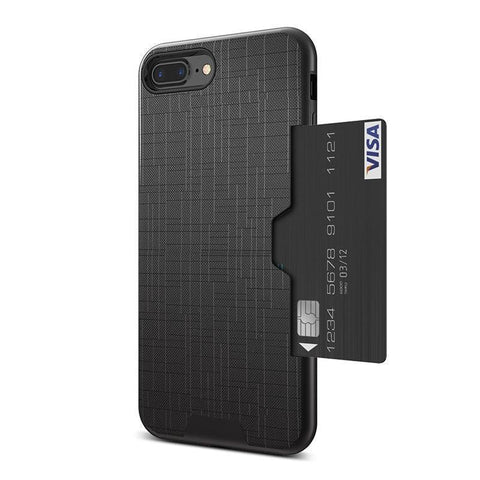 Katchee Black / For iPhone 7 ALPHAX Business Premium Card iPhone Case