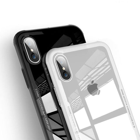 Katchee Black / For iPhone X DOTT 9H Glass Pro Cover iPhone