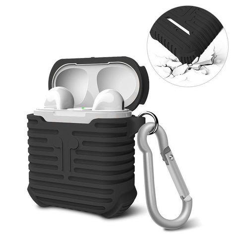 Katchee Black URAMS Ultra Protective AirPods Shockproof Case