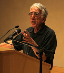 Barsamian addressing a crowd at the Harwood Museum of Art, Taos, NM October 10, 2017.